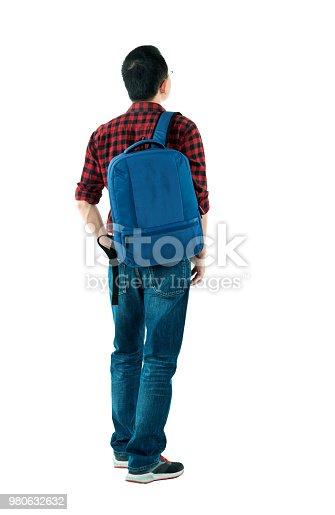 istock Man walking on white background 980632632