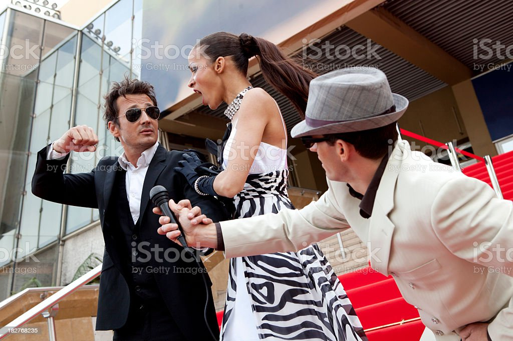 Red Carpet Celebrity Interview By Journalist Reporter In Cannes Pictures Images And Stock Photos