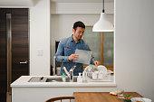 Man taking part in housework
