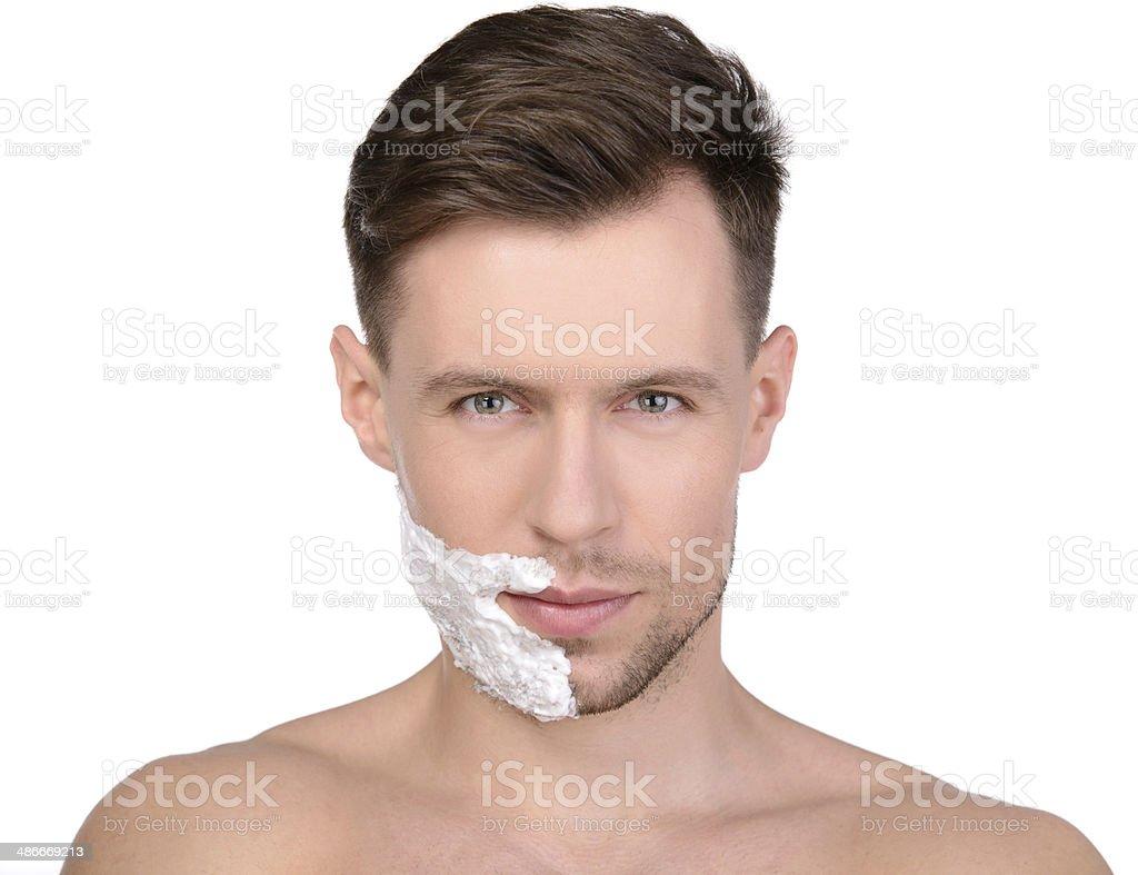 Man Washing stock photo
