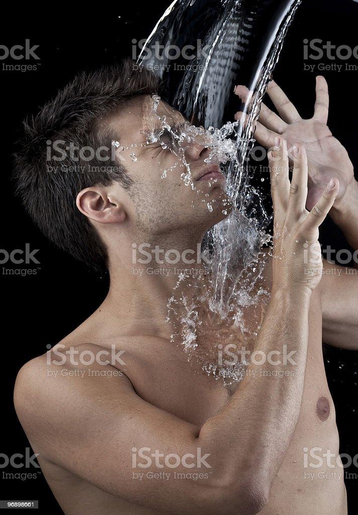 Man water splash royalty-free stock photo