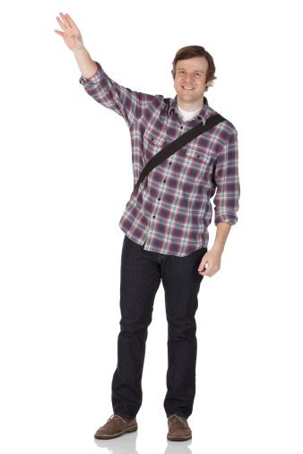 Man Waving Hand Stock Photo - Download Image Now - iStock