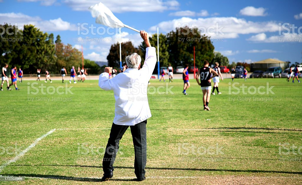 Man waving racket during a game royalty-free stock photo
