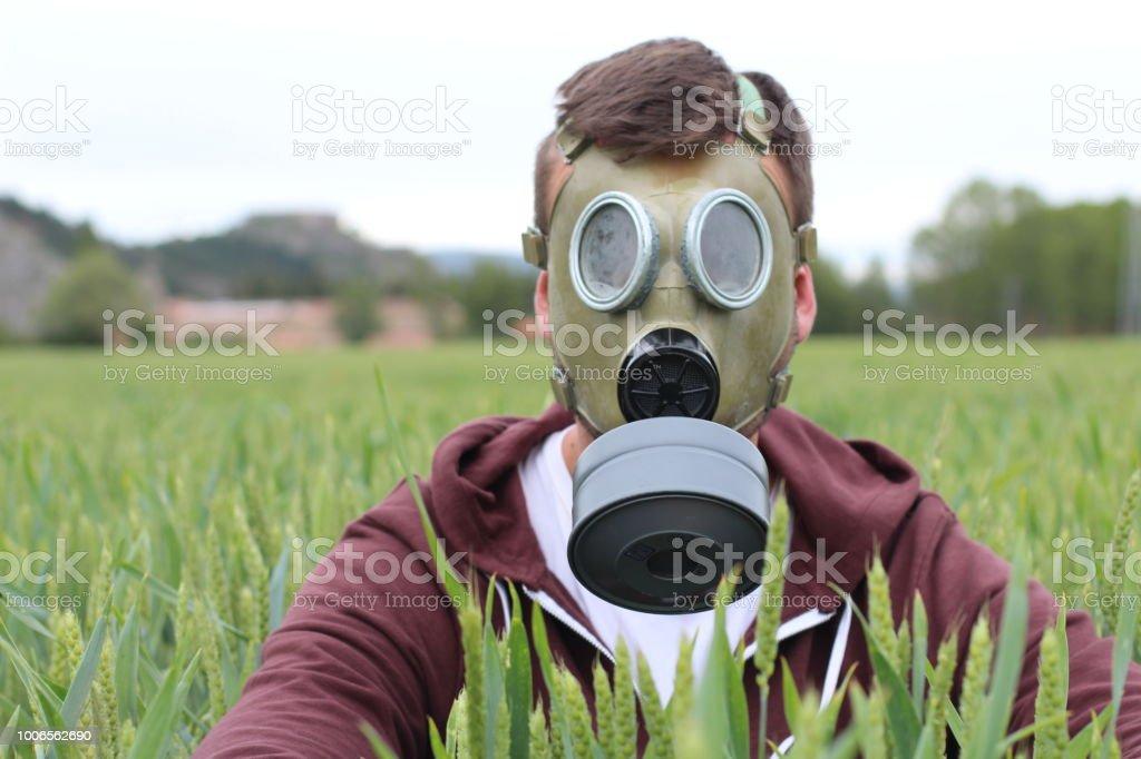 masque respiratoire homme