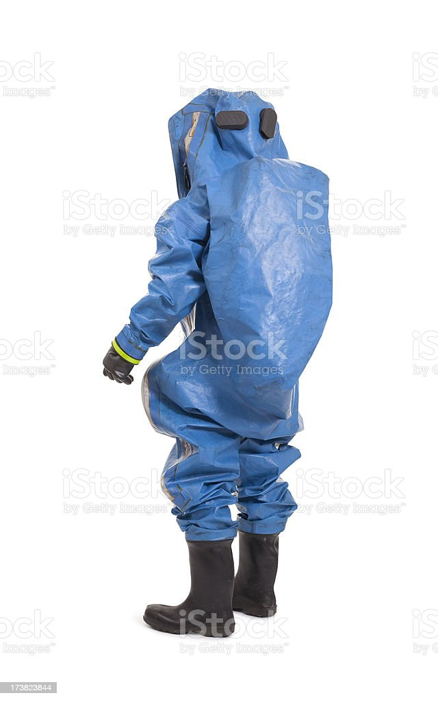 man wearing chemical protection suit royalty-free stock photo