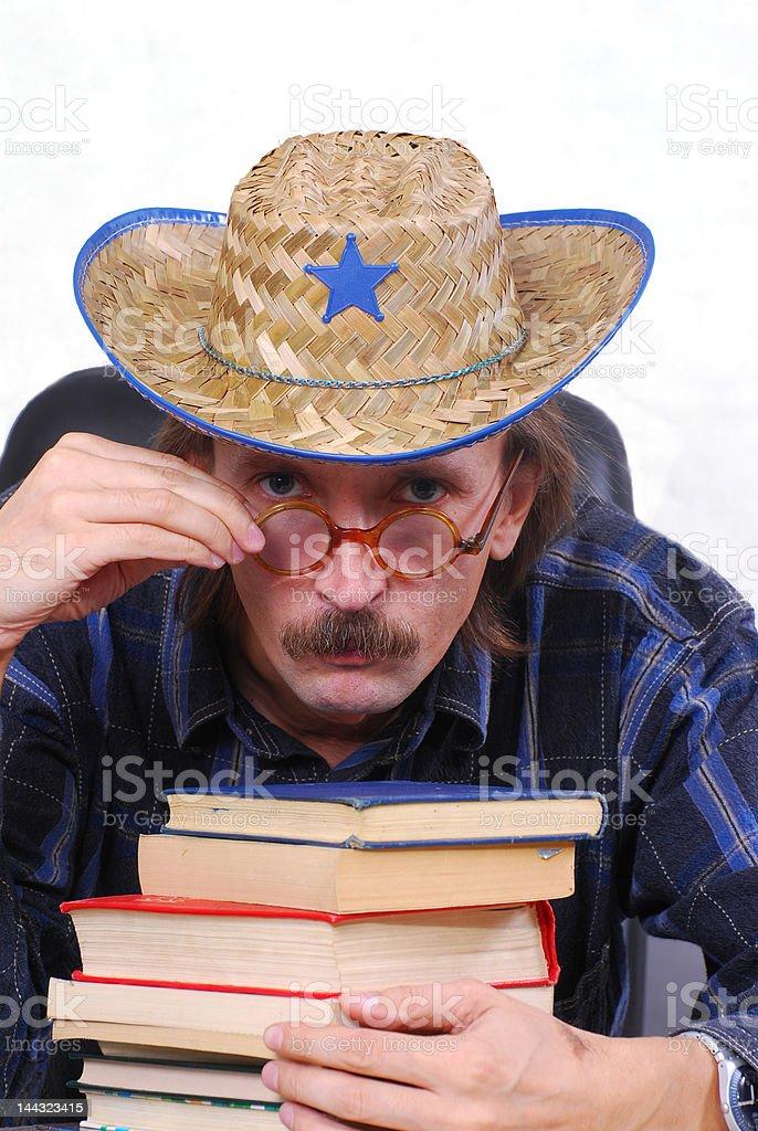 man wearing cowboy hat royalty-free stock photo