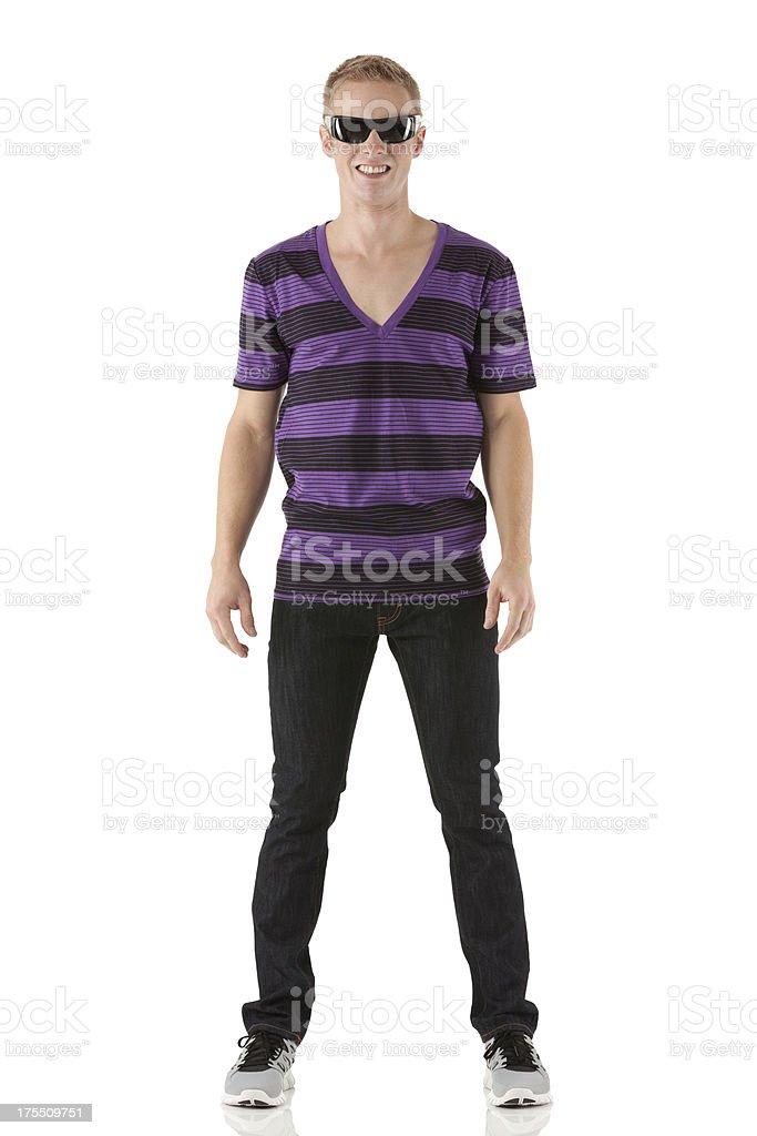 Man wearing dark glasses stock photo