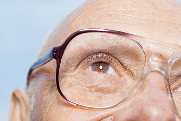 Man wearing eyeglasses stock photo