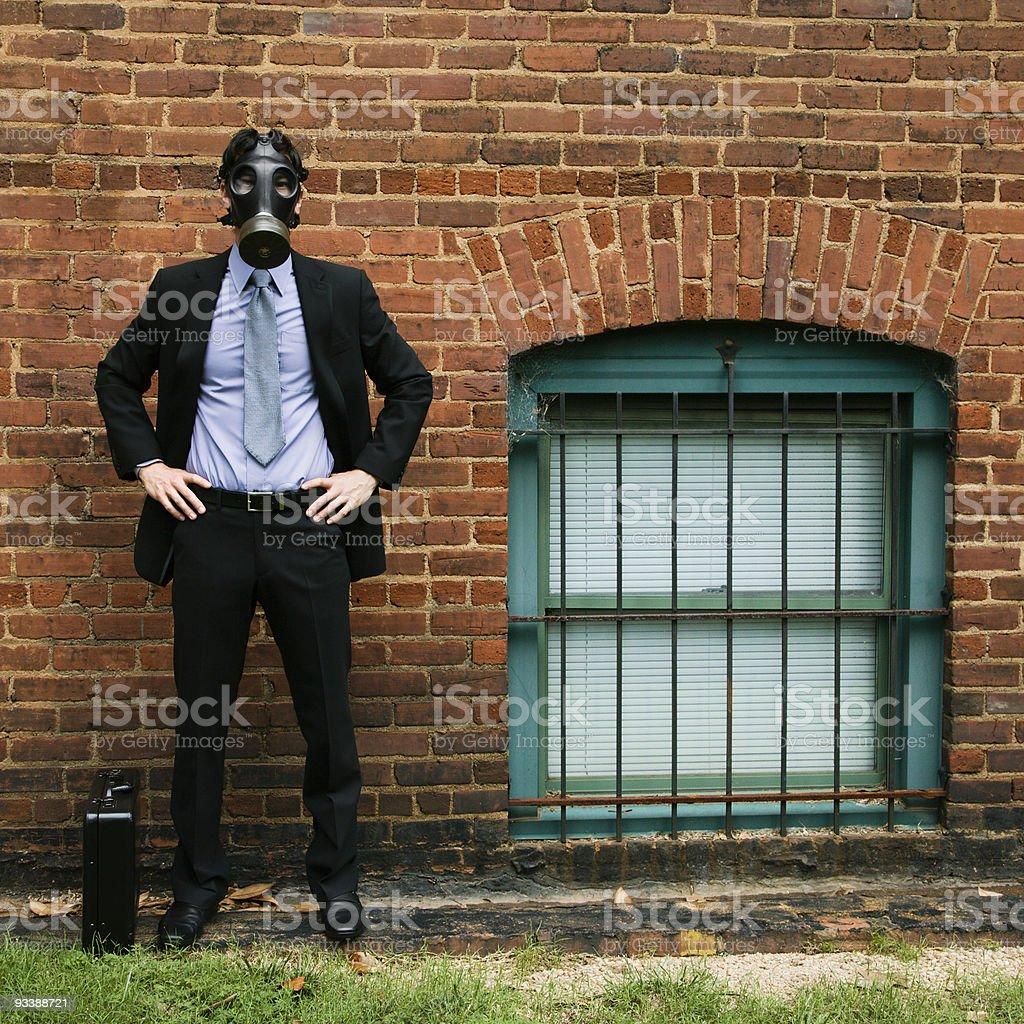 Man wearing gas mask. royalty-free stock photo