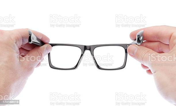 Man wearing glasses to improve vision on a white background picture id174168519?b=1&k=6&m=174168519&s=612x612&h=ch0ag yt1fwzkplhjyzusuah42mtzrr8ilooqsp4hey=