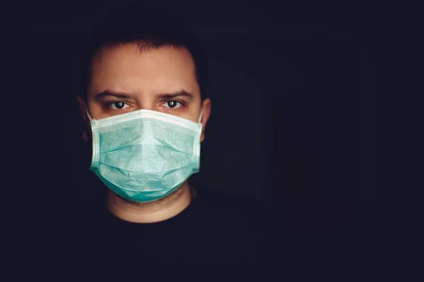 Man Wearing Medical Surgical Face Mask – zdjęcie