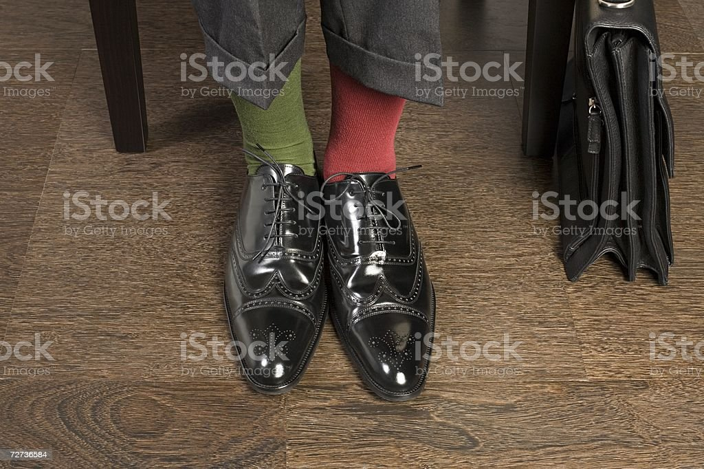 Man wearing odd socks - foto de stock