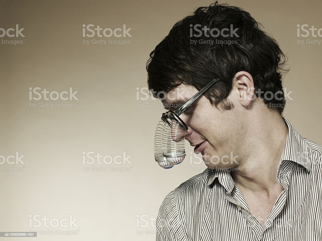 Man wearing spectacles royalty-free 스톡 사진