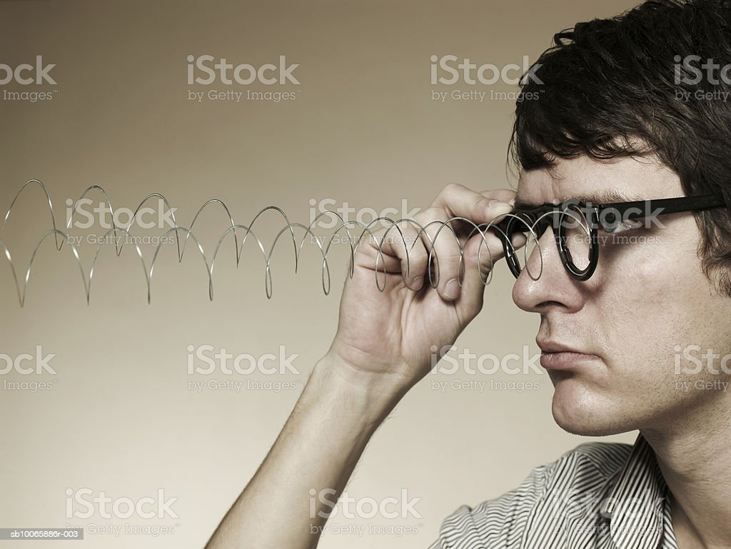 Man wearing spectacles royalty-free stock photo