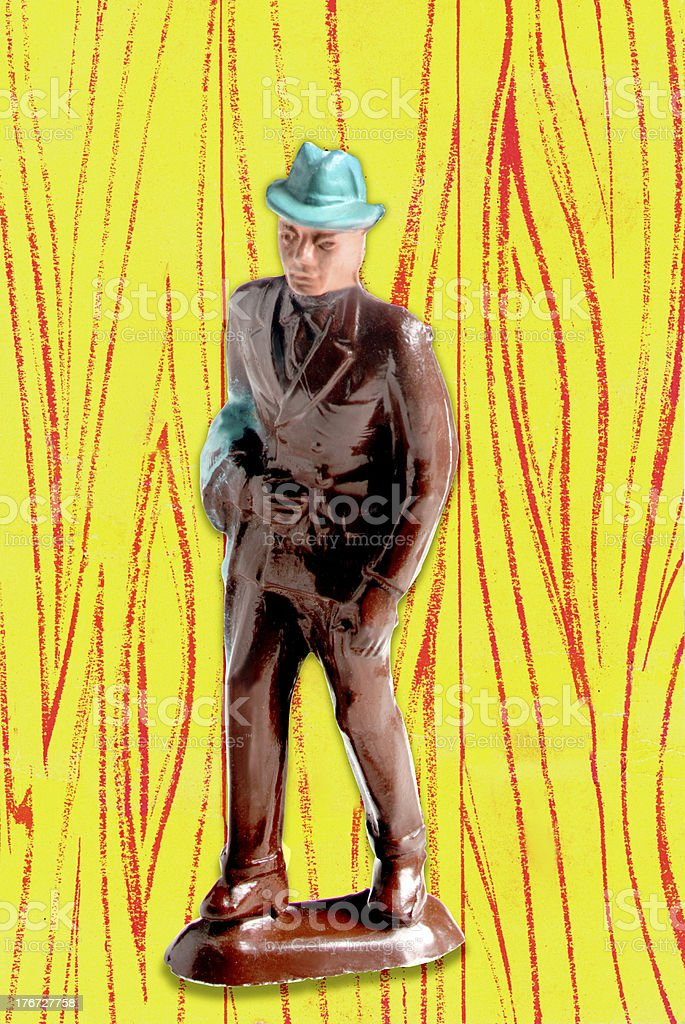 Man Wearing Suit and Hat royalty-free stock photo