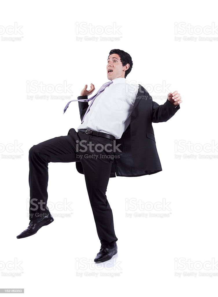 Man wearing suit and tie falling backwards stock photo more man wearing suit and tie falling backwards royalty free stock photo ccuart Image collections
