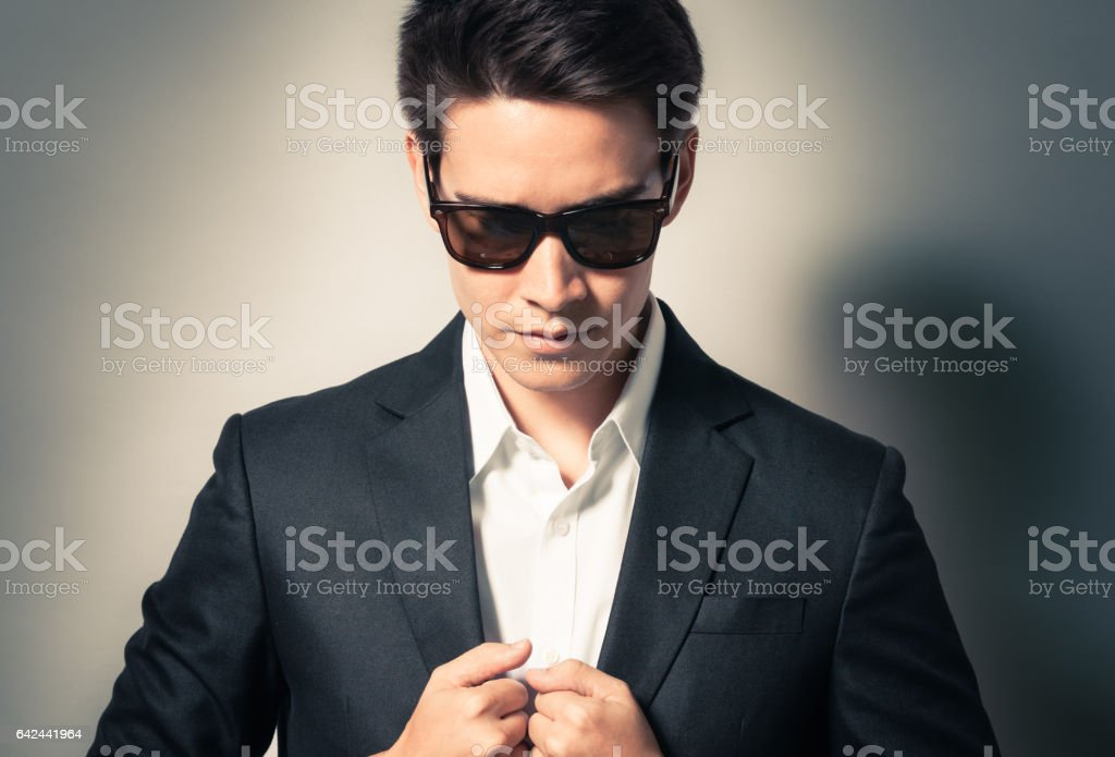 Man wearing suit stock photo