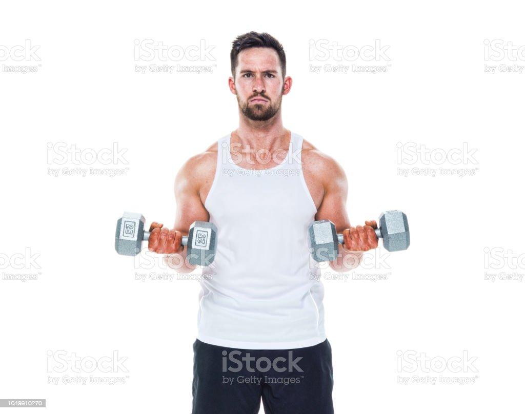 Mann mit Tank-Top Training – Foto