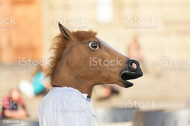 Man wearing the head of a horse in blurred background picture id175514100?b=1&k=6&m=175514100&s=612x612&h=g8tvagbgbsumw0acdu1tb2dzf7tqyhcpxz wdckw ae=