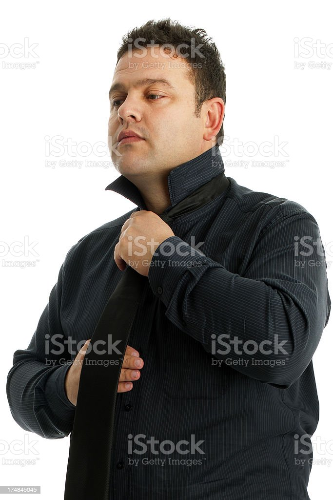 Man wearing tie royalty-free stock photo