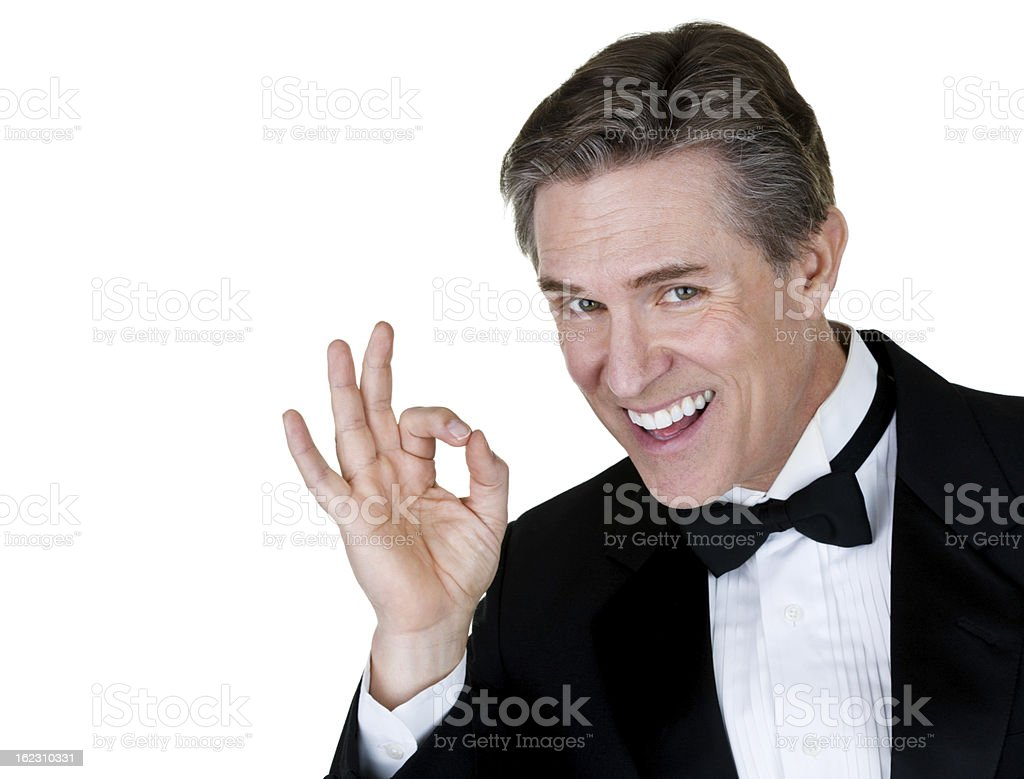 Man wearing tuxedo royalty-free stock photo
