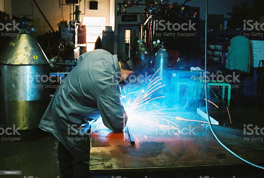 man at work welding