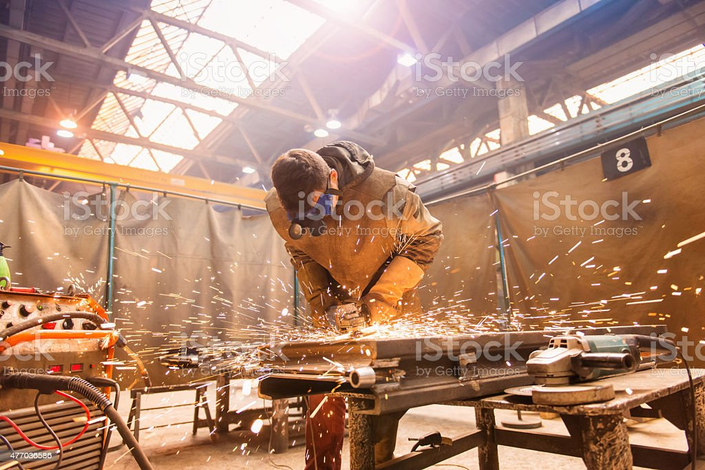 Man welding stock photo