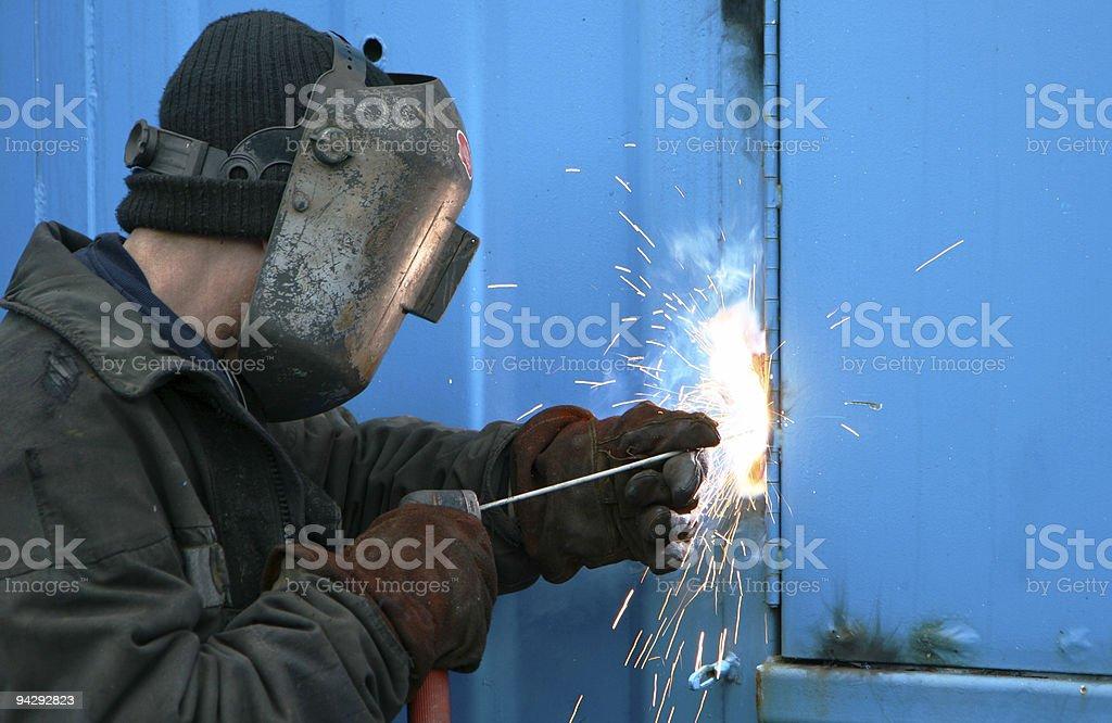man welding royalty-free stock photo