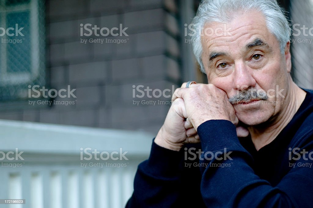 A man which a facial expression asking why stock photo