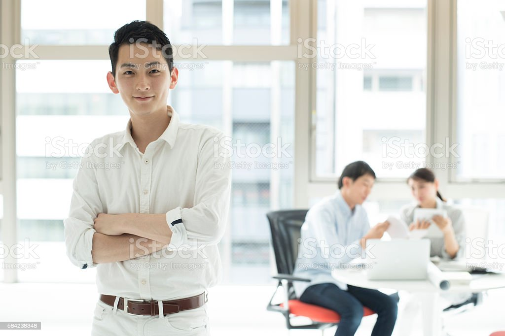 Man who had the ambition. stock photo