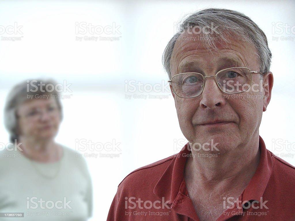 Man & wife royalty-free stock photo