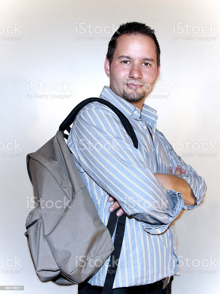 Man with a backpack. royalty-free stock photo