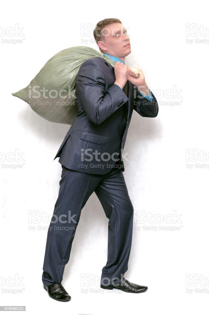 Mann mit einer Tasche. – Foto