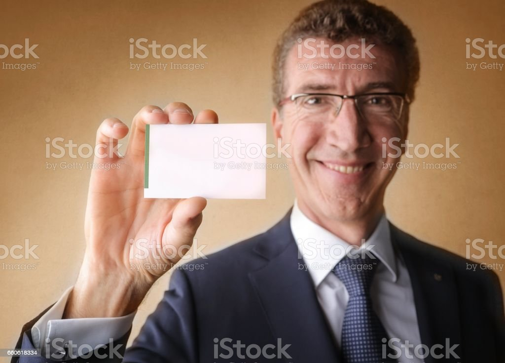 Man with a card royalty-free stock photo