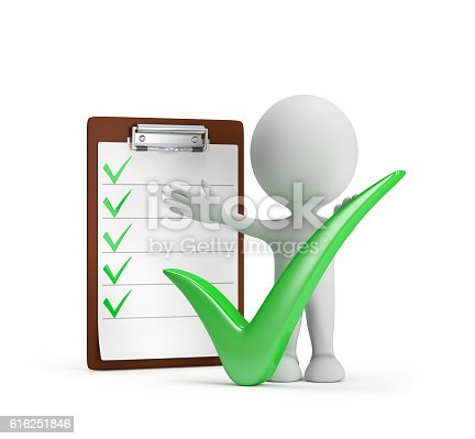 istock Man with a checklist 616251846
