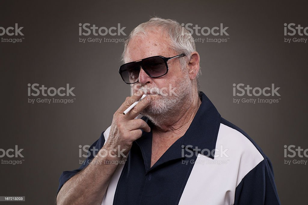 Man with a cigarette royalty-free stock photo