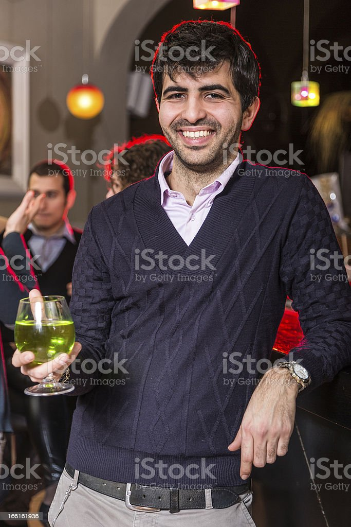 Man with a Drink royalty-free stock photo