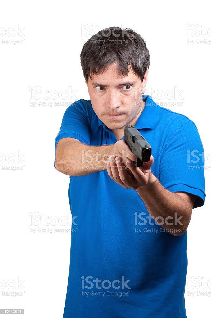 Man with a gun. - Royalty-free 45 Sayısı Stok görsel