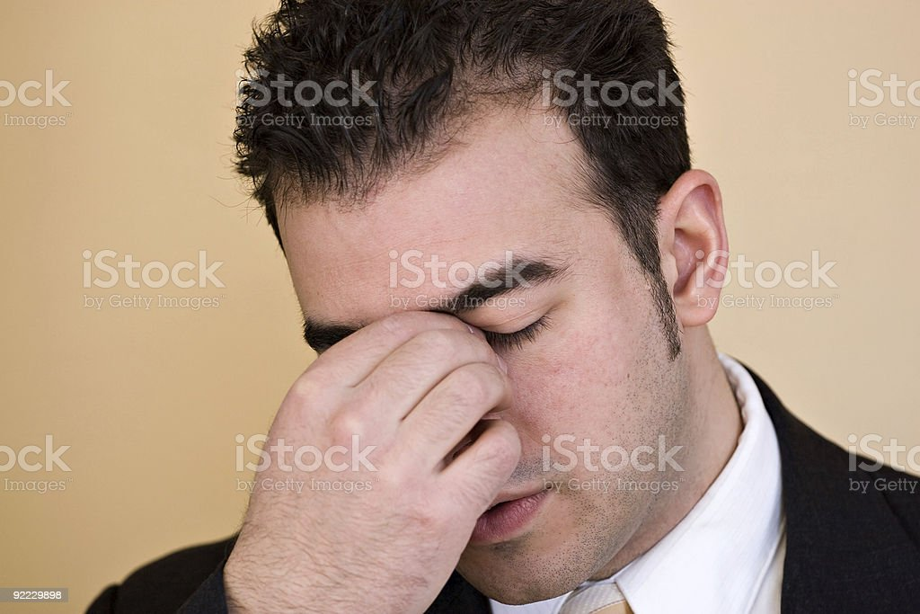 Man With a Headache royalty-free stock photo