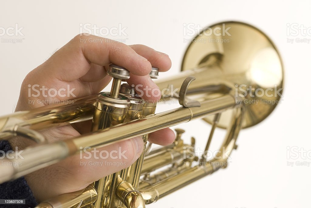 Man with a Horn royalty-free stock photo