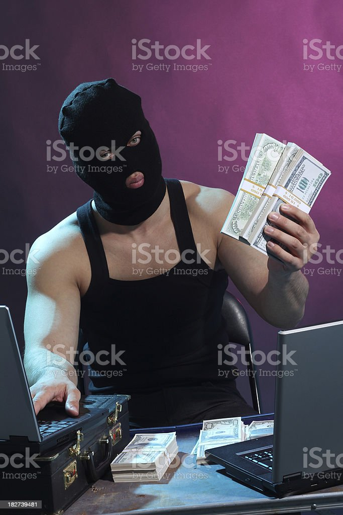 Man with a mask - terrorist royalty-free stock photo