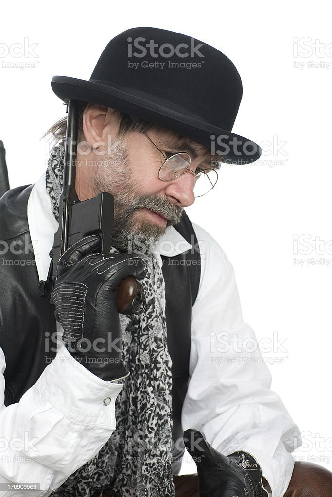 Man with a Mauser royalty-free stock photo
