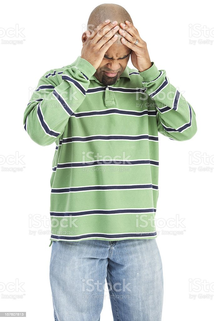Man with A Migraine royalty-free stock photo