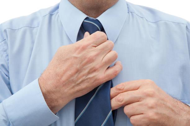 Man With a Necktie on White stock photo