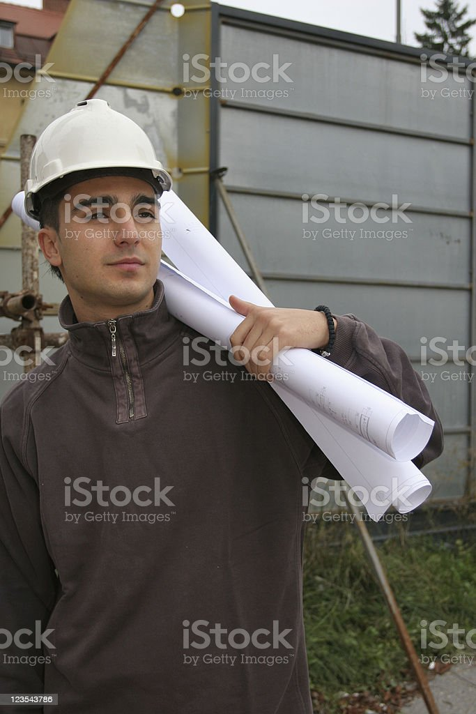 Man with a plan stock photo