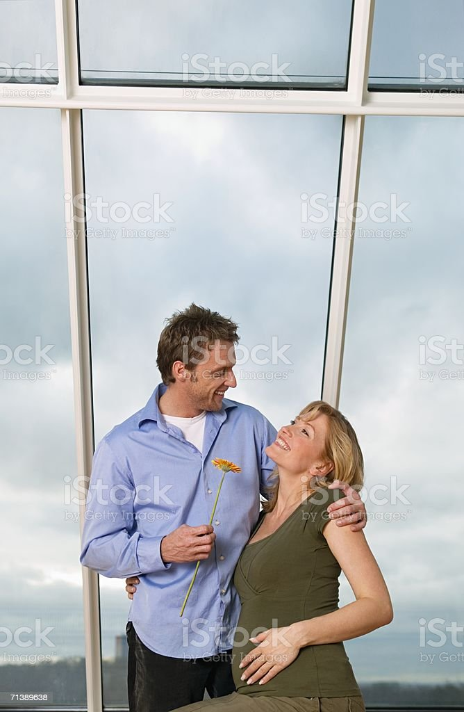 Man with a pregnant woman royalty-free stock photo
