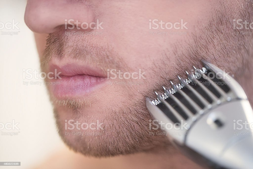 Man with a razor royalty-free stock photo