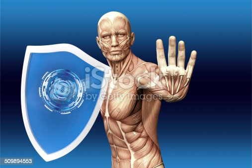 475709137 istock photo Man with a shield 509894553