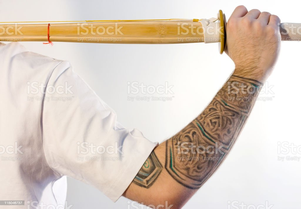 Man With a Shinai royalty-free stock photo