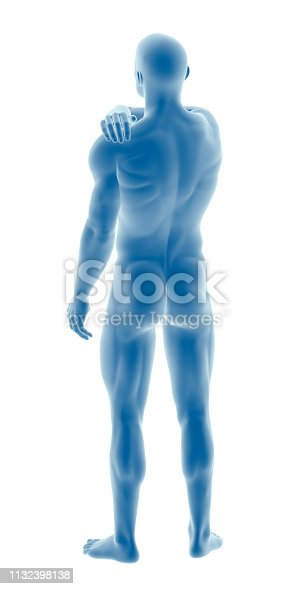 istock Man with a shoulder pain 1132398138